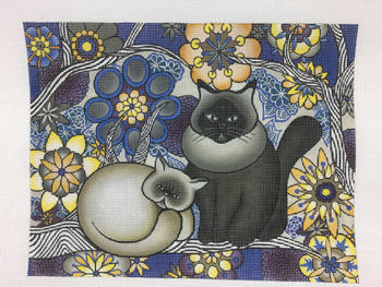 click here to view larger image of Two Cats (hand painted canvases)