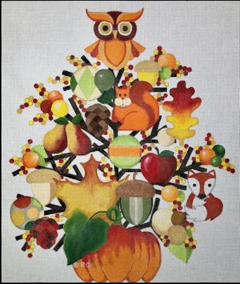 click here to view larger image of Autumn Tree (hand painted canvases)