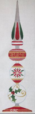 "click here to view larger image of Christmas Finial - 22"" (hand painted canvases)"