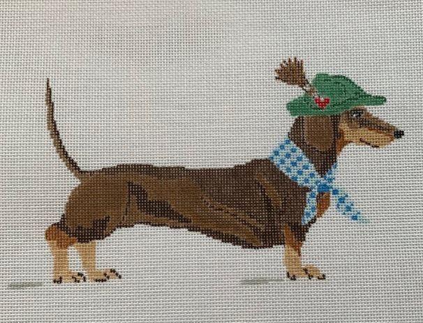 click here to view larger image of Dackel (dachshund) (hand painted canvases)