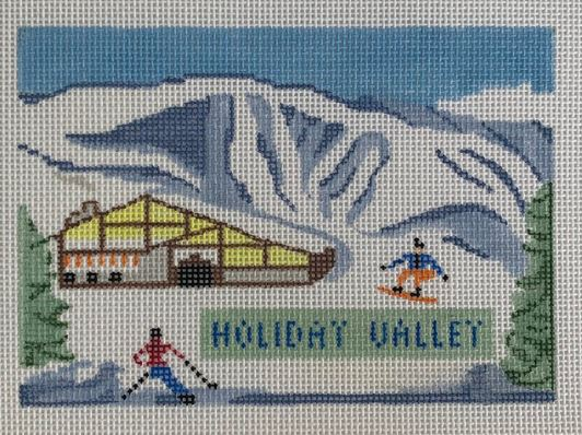 click here to view larger image of Holiday Valley (hand painted canvases)