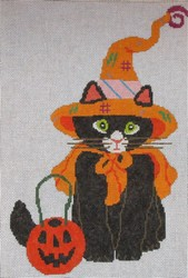 click here to view larger image of Witch Kitty (hand painted canvases)