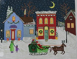 click here to view larger image of Santa Village (hand painted canvases)