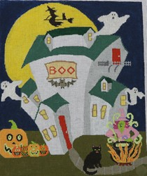 click here to view larger image of Ghost House (hand painted canvases)