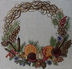 click here to view larger image of Fall Wreath (hand painted canvases)
