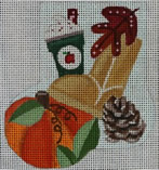 click here to view larger image of Cozy Autumn Mini-Sock (hand painted canvases)