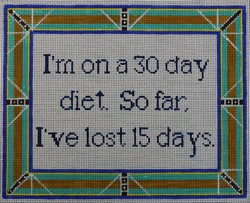 click here to view larger image of On A 30 Day Diet (hand painted canvases)