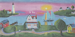 click here to view larger image of Klim Summer Sunset - Panorama (hand painted canvases)