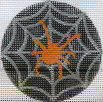 click here to view larger image of Orange Spider in Web (hand painted canvases)