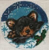 click here to view larger image of Bear Ornament (hand painted canvases)