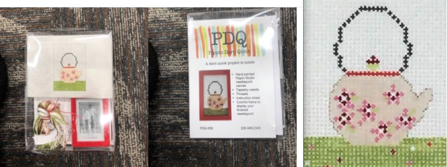click here to view larger image of PDQ (Pretty Darn Quick) Kit - Teapot (needlepoint kits)