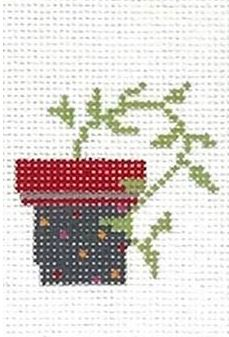 click here to view larger image of PDQ (Pretty Darn Quick) Kit - Flower Pot (needlepoint kits)