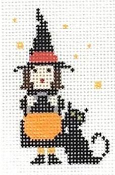 click here to view larger image of PDQ (Pretty Darn Quick) Kit - Witch (needlepoint kits)