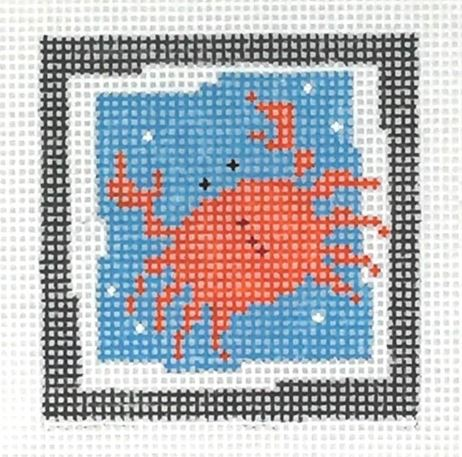 click here to view larger image of First Stitch Kit - Crab (needlepoint kits)