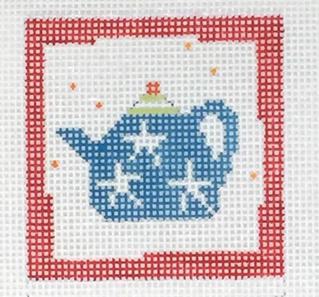 click here to view larger image of First Stitch Kit - Teapot (needlepoint kits)