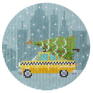 Christmas in New York - Taxi Cab hand painted canvases