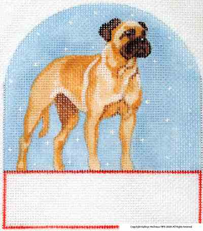 click here to view larger image of Bull Mastiff (hand painted canvases)