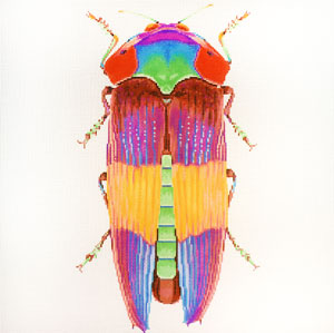 click here to view larger image of Big Bugs - Rainbow (hand painted canvases)