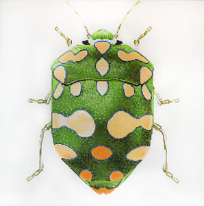 click here to view larger image of Big Bugs - Green and Yellow (hand painted canvases)