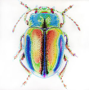 click here to view larger image of Big Bugs - Psychedelic (hand painted canvases)