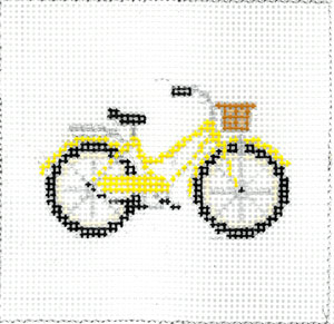 click here to view larger image of Yellow Bicycle (hand painted canvases)