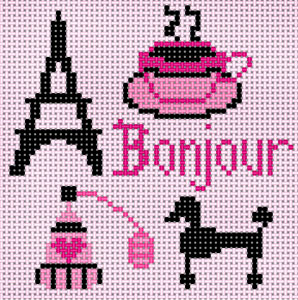 click here to view larger image of Bonjour (hand painted canvases)