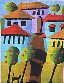 click here to view larger image of Guarding the Village (hand painted canvases)