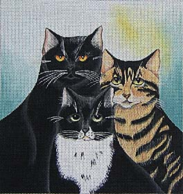 click here to view larger image of Trio (hand painted canvases)