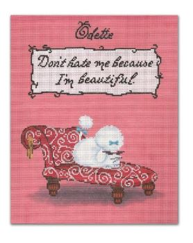 click here to view larger image of Odette - Don't hate me because I'm Beautiful   (hand painted canvases)
