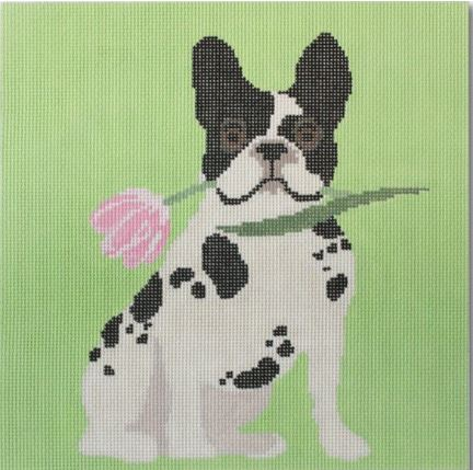 click here to view larger image of Flowery Frenchy  (hand painted canvases)