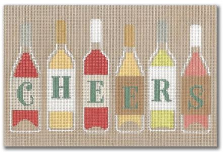 click here to view larger image of Cheers (hand painted canvases)