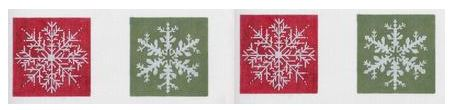 click here to view larger image of Coasters - Snowflakes (hand painted canvases)