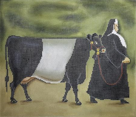 click here to view larger image of Dutch Belted Cow (hand painted canvases)