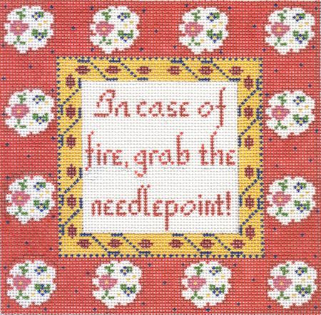 click here to view larger image of In Case of Fire (hand painted canvases)