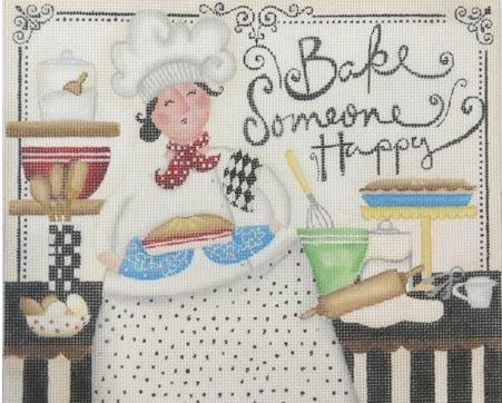click here to view larger image of Bake Happy (hand painted canvases)