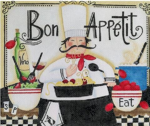 click here to view larger image of Bon Appetit (hand painted canvases)