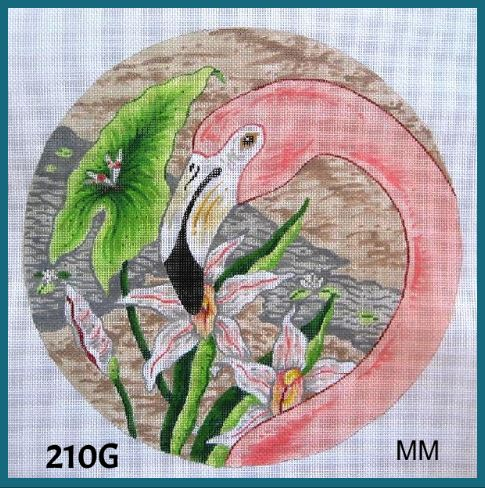 click here to view larger image of Flamingo - Facing Left (hand painted canvases)