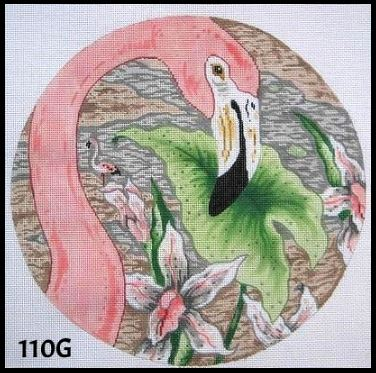 click here to view larger image of Flamingo - Facing Right (hand painted canvases)