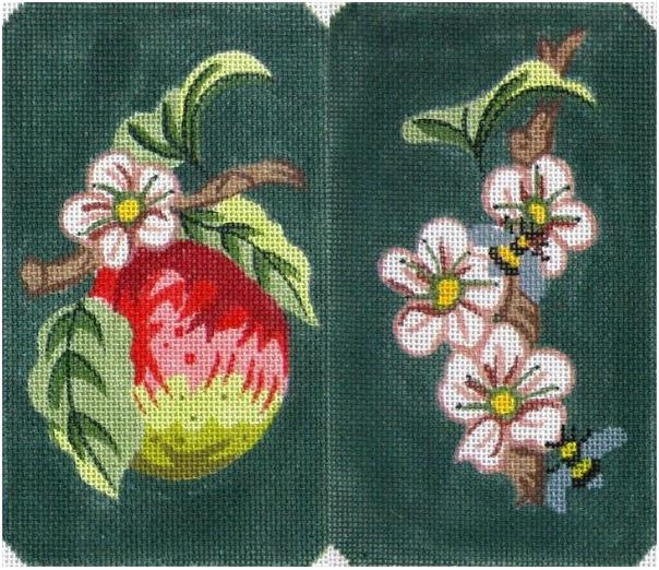 click here to view larger image of Appleblossoms Eyeglass Case (hand painted canvases)
