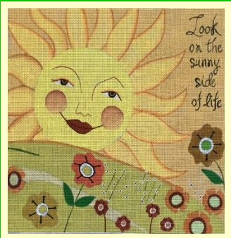 click here to view larger image of Sunny Side (hand painted canvases)