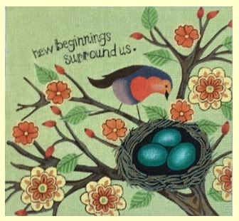 click here to view larger image of New Beginnings (hand painted canvases)