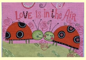 click here to view larger image of Love is in the Air (hand painted canvases)