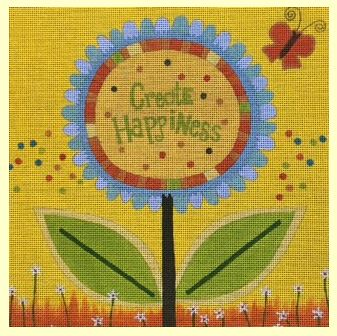 click here to view larger image of Create Happiness (hand painted canvases)