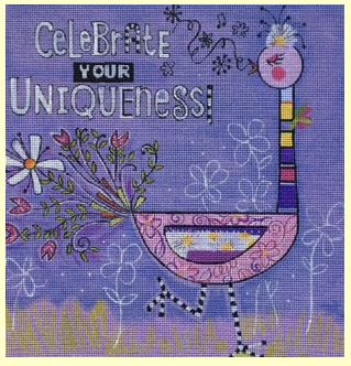 click here to view larger image of Celebrate Your Uniqueness (hand painted canvases)