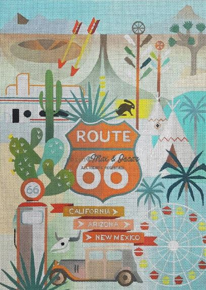 click here to view larger image of Route 66 (hand painted canvases)
