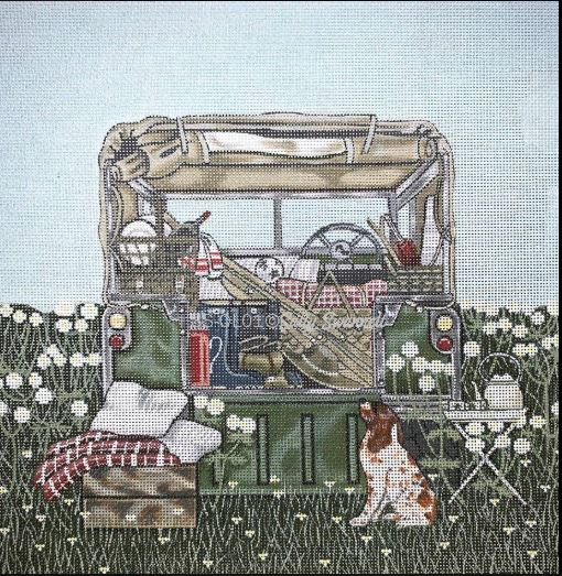 click here to view larger image of Jeep Camping (hand painted canvases)