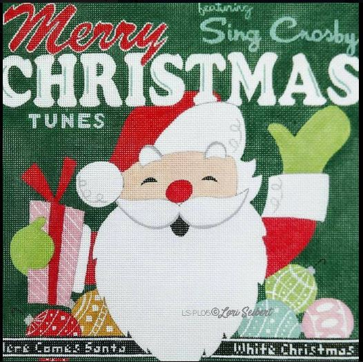 click here to view larger image of Merry Christmas Retro Album (hand painted canvases)