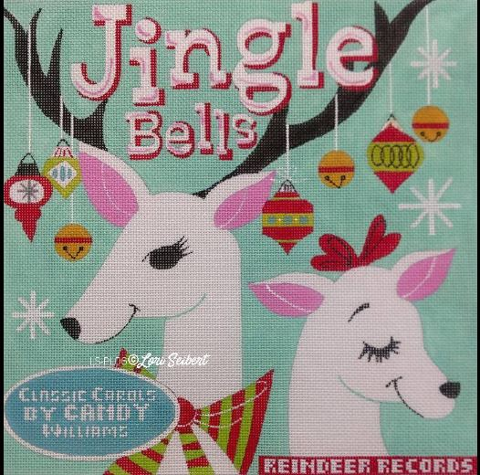 click here to view larger image of Jingle Bells Retro Album (hand painted canvases)