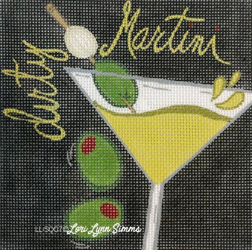 click here to view larger image of Dirty Martini (hand painted canvases)