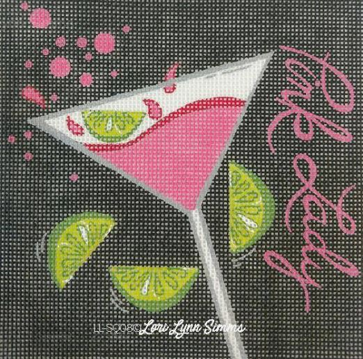 click here to view larger image of Pink Lady Martini (hand painted canvases)